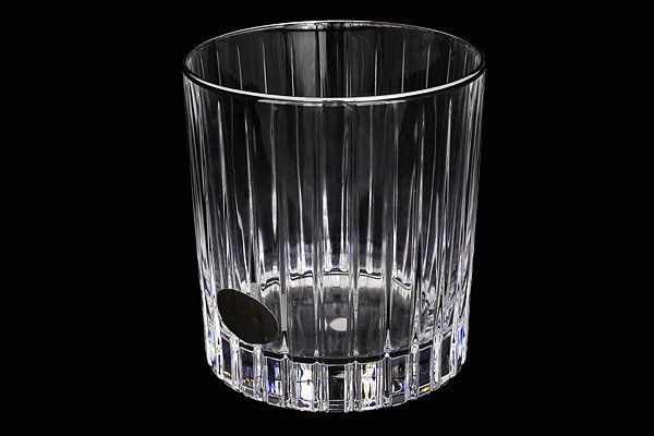 """Набор: 6 хрустальных стаканов для виски (0,25л)  """"Пиза серебро"""""""