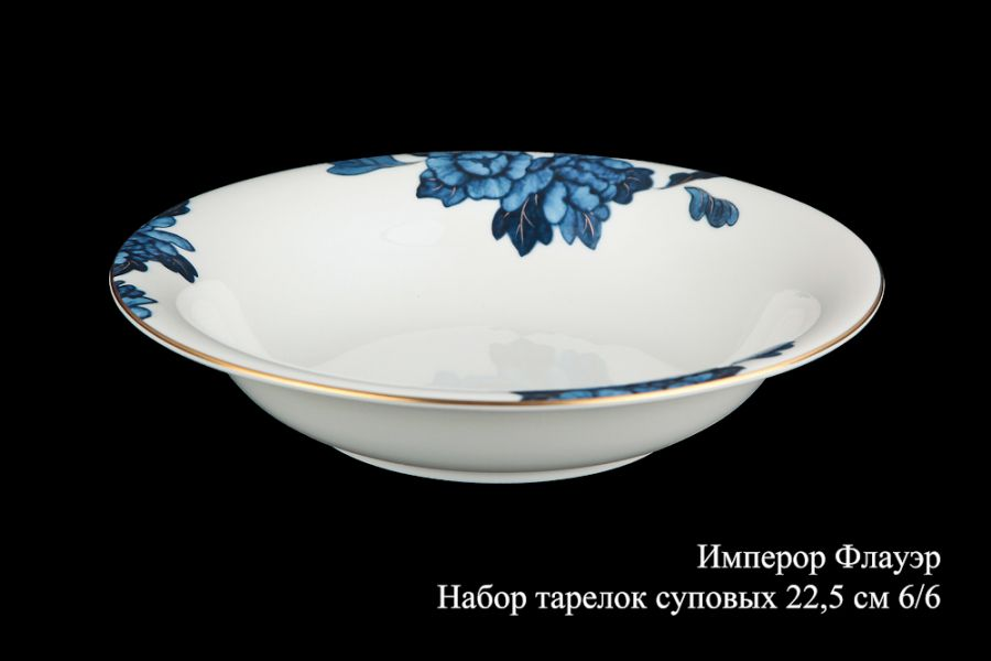 "Набор тарелок суповых 22.5см. 6/6 ""Имперор флауэр"""