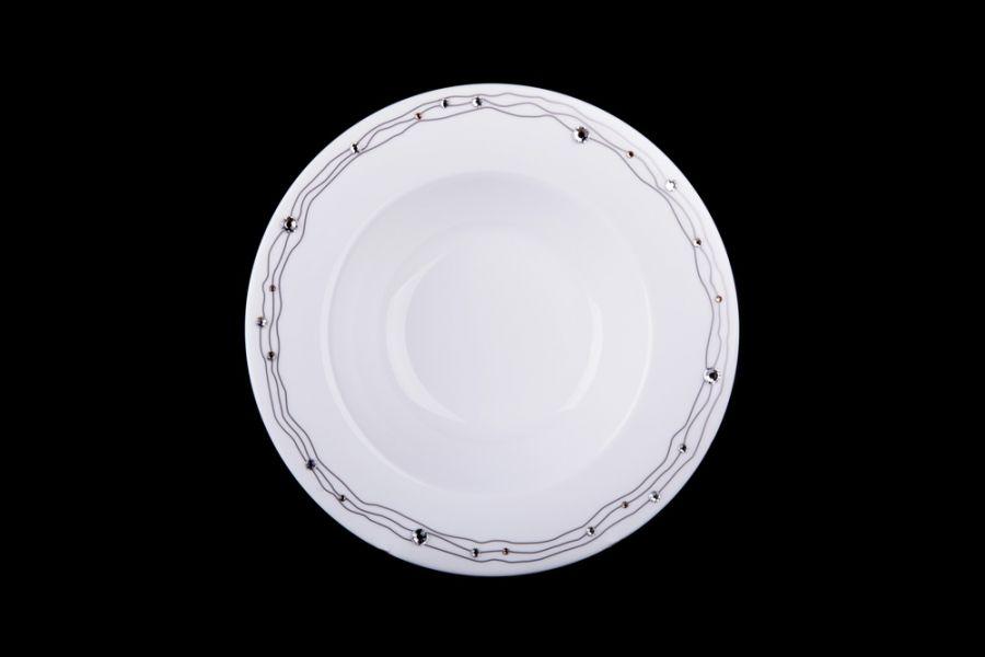 "Набор тарелок 21см. ""Юпитер"" 6/6 (кристаллы Сваровски)"