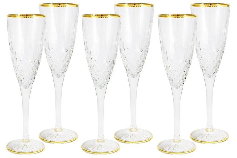 """Набор: 6 бокалов для шампанского 125мл """"Уэльс"""""""
