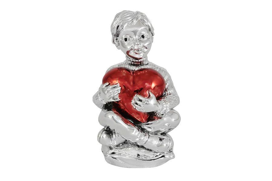 """Статуэтка """"Мальчик с красным сердцем"""", 13 см"""
