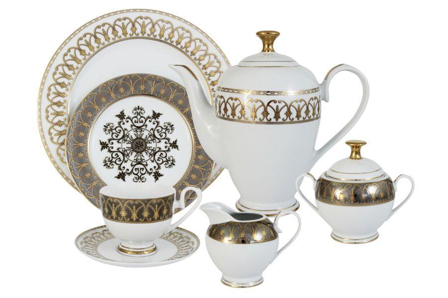 """Чайный сервиз на 12 персон """"Вдохновение"""", 42 пр."""