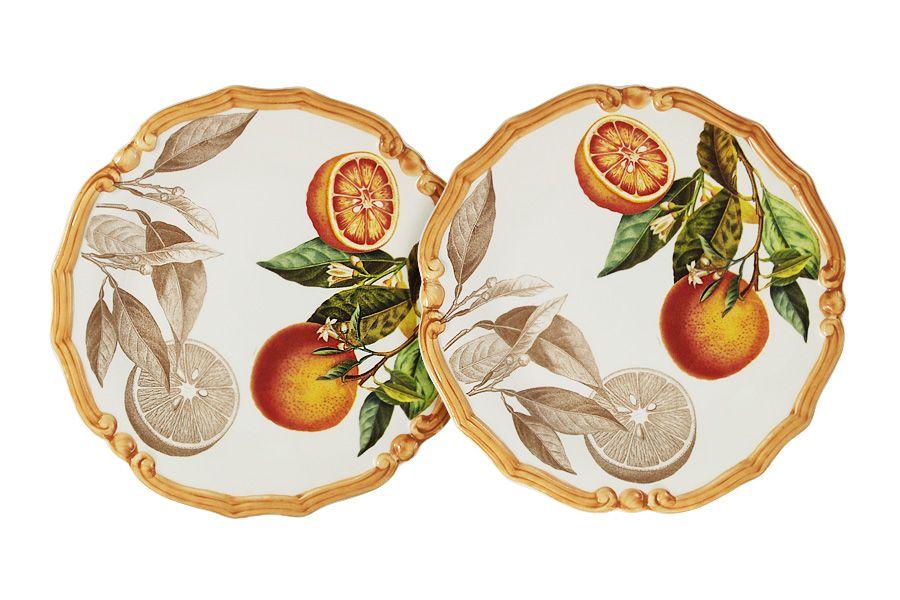 """Набор из 2-х десертных тарелок """"Апельсины"""", 20.5 см"""