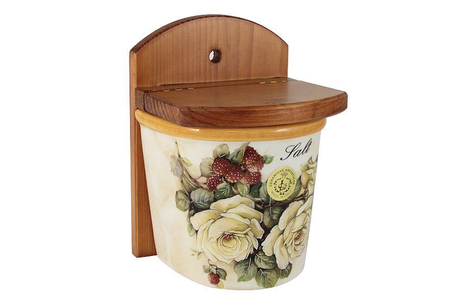 """Банка для сыпучих продуктов (соль) """"Роза и малина"""", 0.75 л"""