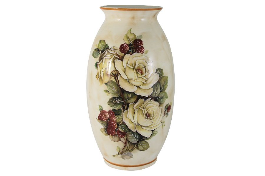 """Ваза для цветов """"Роза и малина"""", 30 см"""