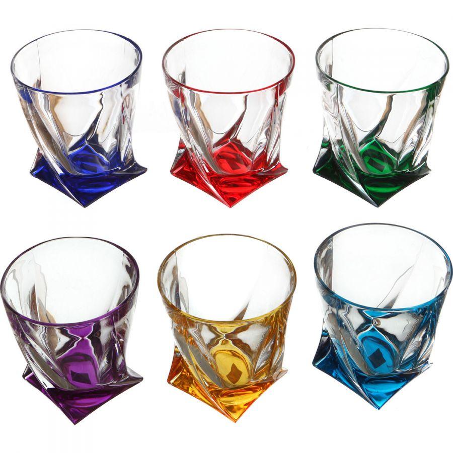 """Набор стаканов для виски """"Квадро декорейшн 72r93"""" 340 мл, h=10 см, 6 шт."""